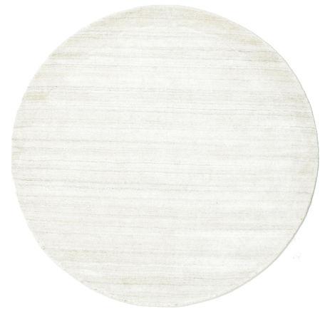 RugVista Bamboo silkki Loom - Vaalea Natural -matto  Ø 150 Moderni, Pyöreä Matto