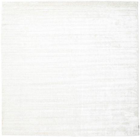 RugVista Bamboo silkki Loom - Vaalea Natural -matto 250x250 Moderni, Neliö Matto