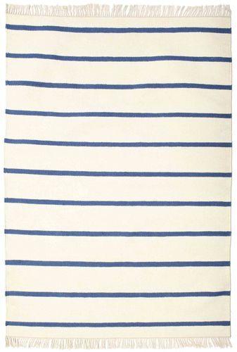 RugVista Dorri Stripe - Valkoinen / Sininen -matto 140x200 Itämainen Matto