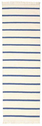 RugVista Dorri Stripe - Valkoinen / Sininen -matto 80x300 Itämainen, Eteisen Matto