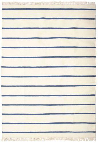 RugVista Dorri Stripe - Valkoinen / Sininen -matto 160x230 Itämainen Matto
