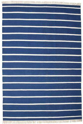 RugVista Dorri Stripe - Tummansininen -matto 200x300 Itämainen Matto