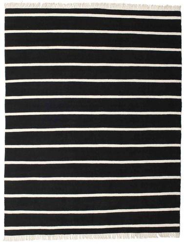 RugVista Dorri Stripe - Musta / Valkoinen -matto 200x250 Itämainen Matto