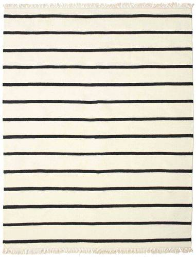 RugVista Dorri Stripe - Valkoinen / Musta -matto 200x250 Itämainen Matto