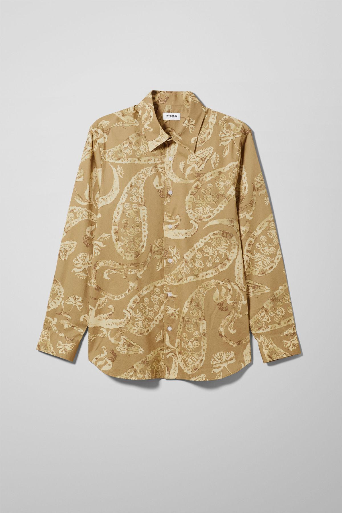 Nino Paisley Shirt - Yellow-S