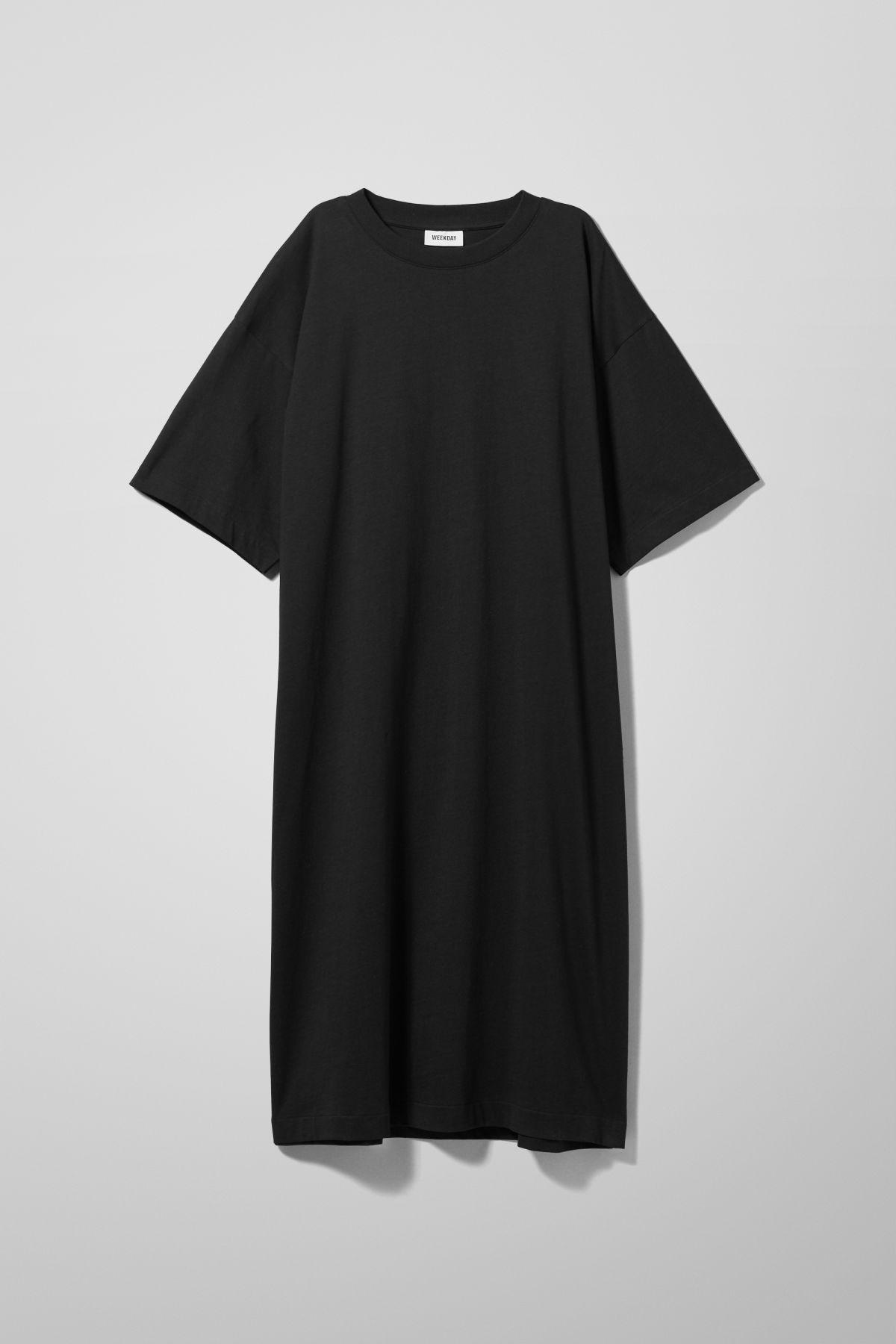 Image of Ines T-Shirt Dress - Black-XS