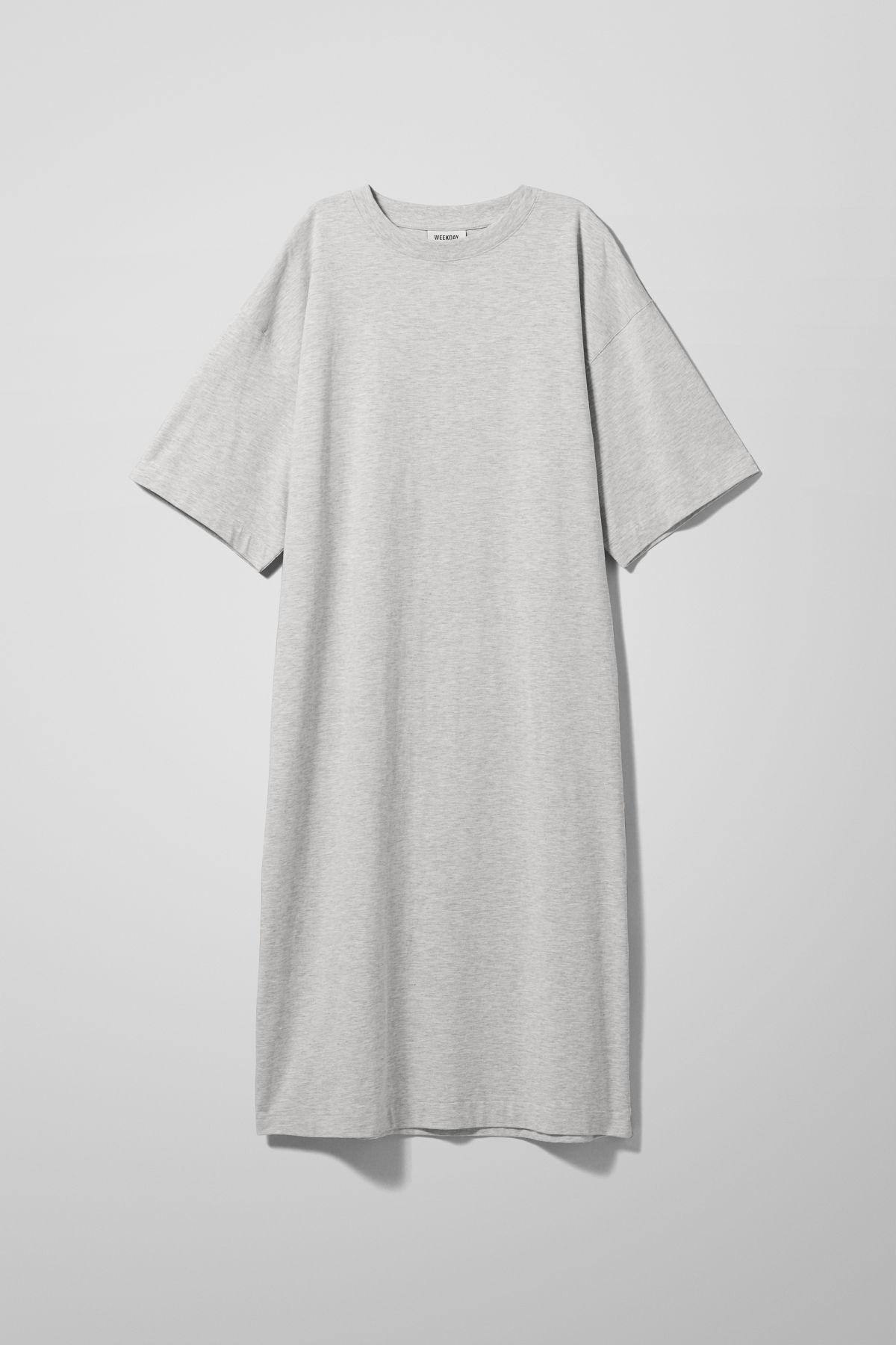 Image of Ines T-Shirt Dress - Grey-XS