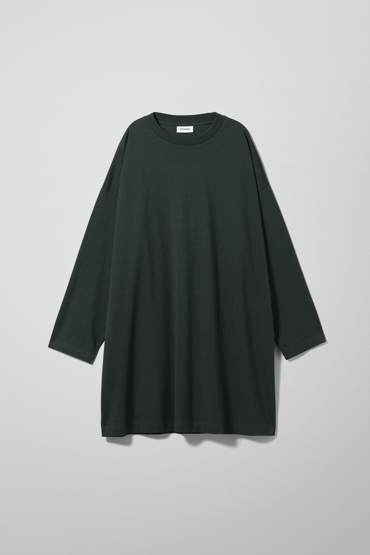 Image of Elke Long Sleeve Dress - Green-XS