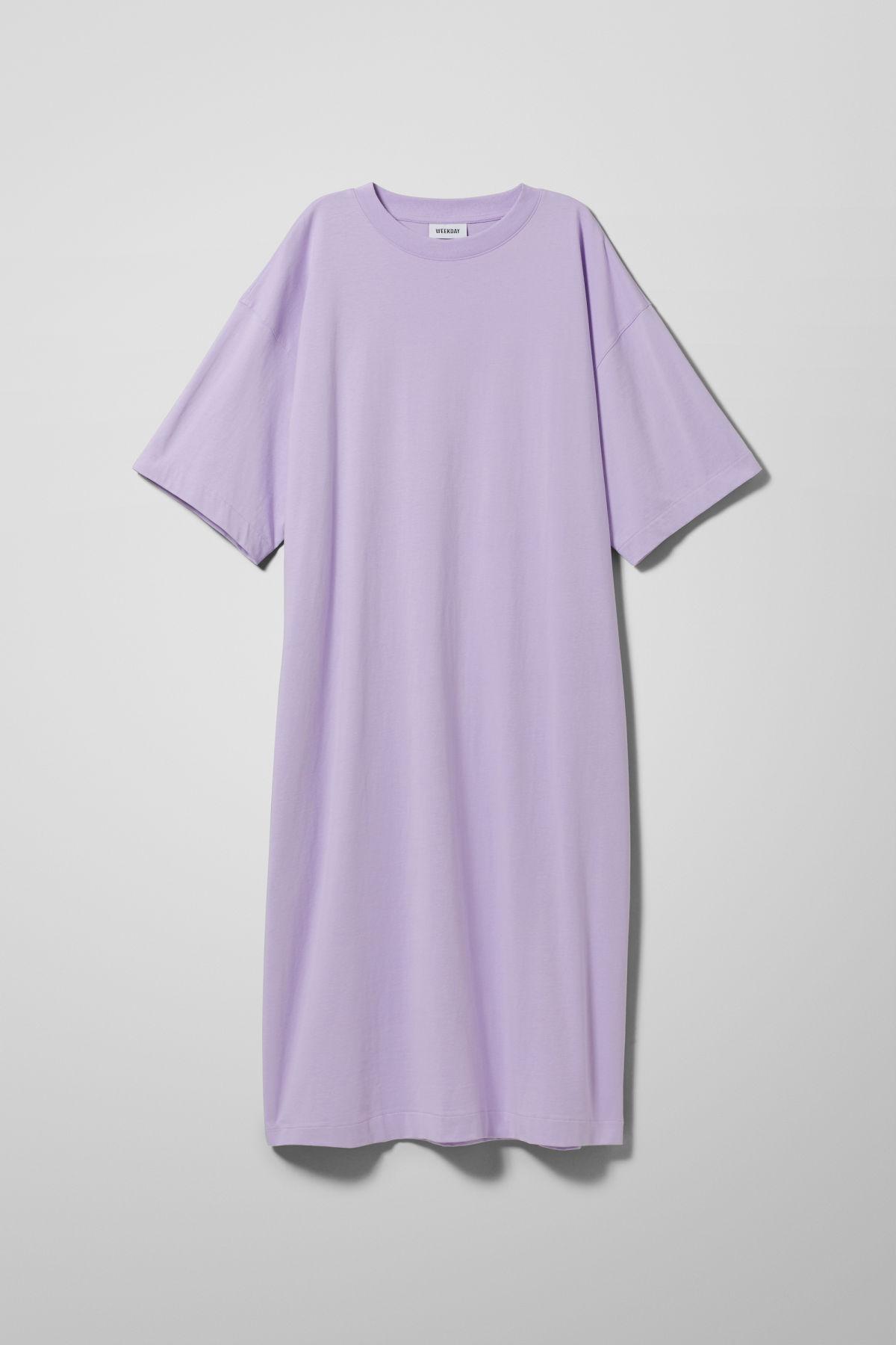 Image of Ines T-Shirt Dress - Purple-M