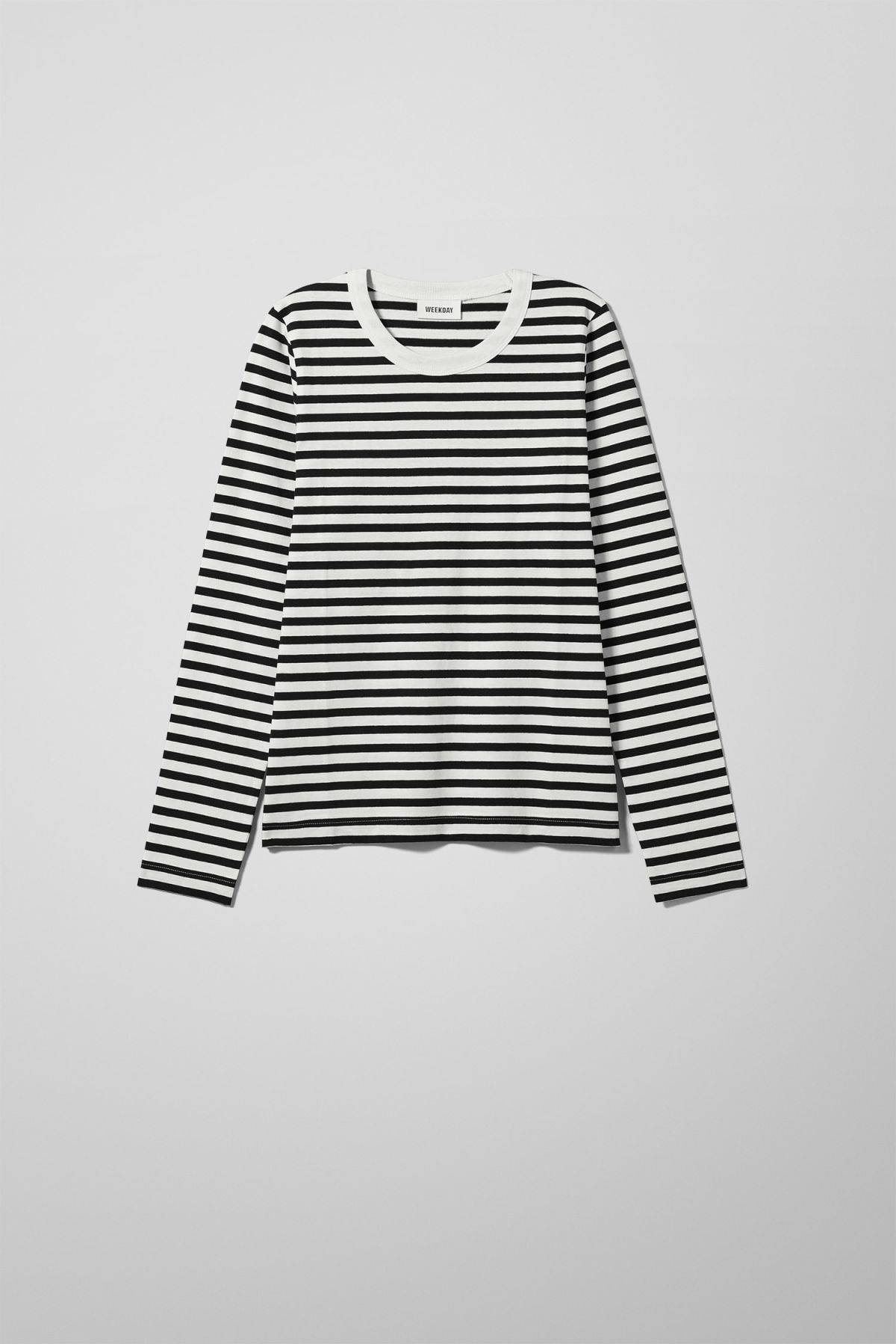 Image of Kate Striped Long Sleeve - Black-XS