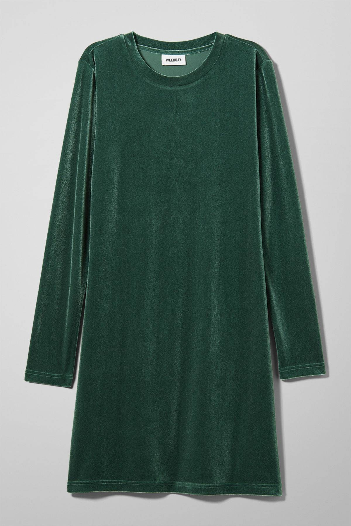 Image of Fray Dress - Green-XS