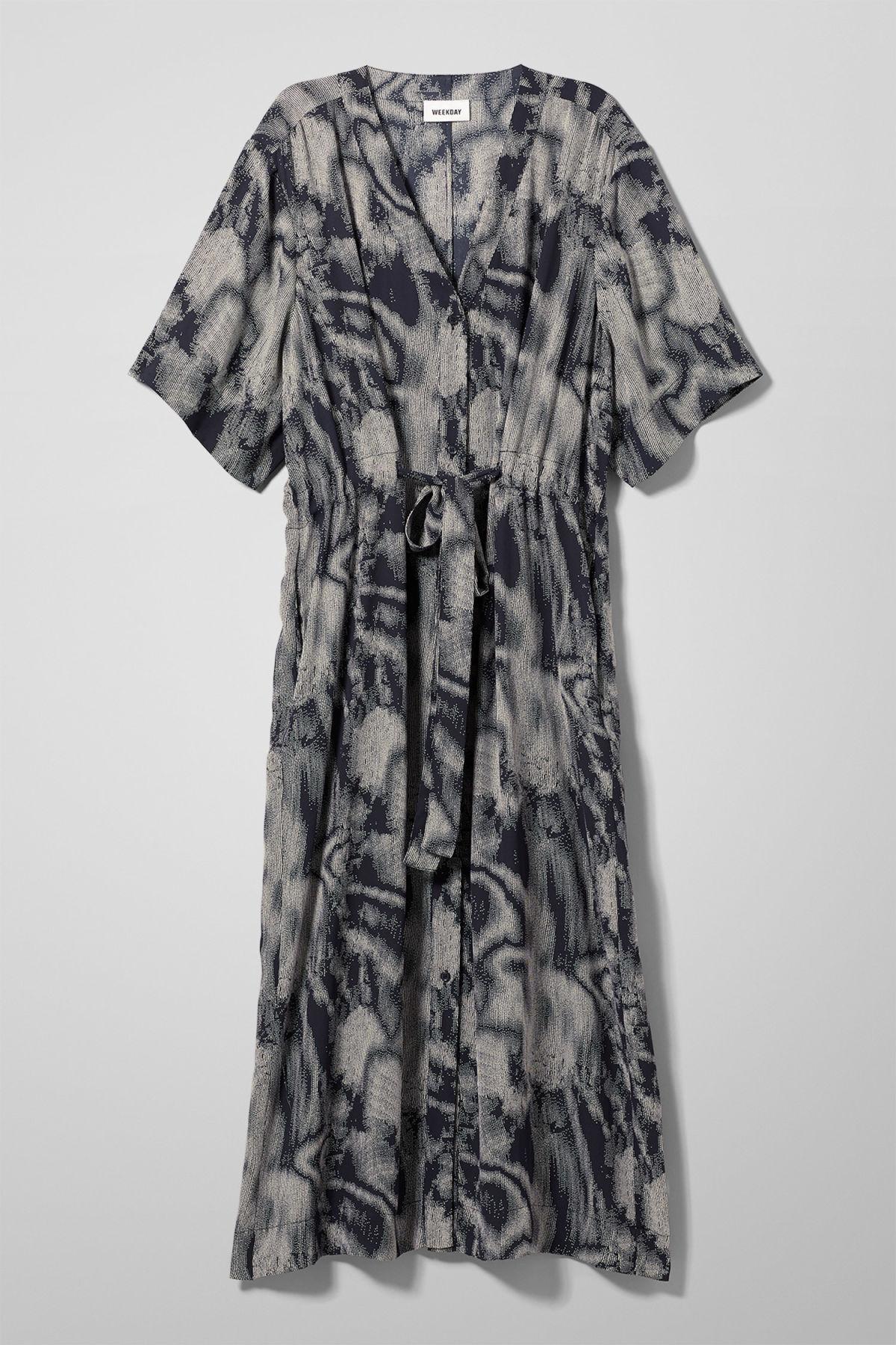 Image of Chalk Shirt Dress - Blue-XS