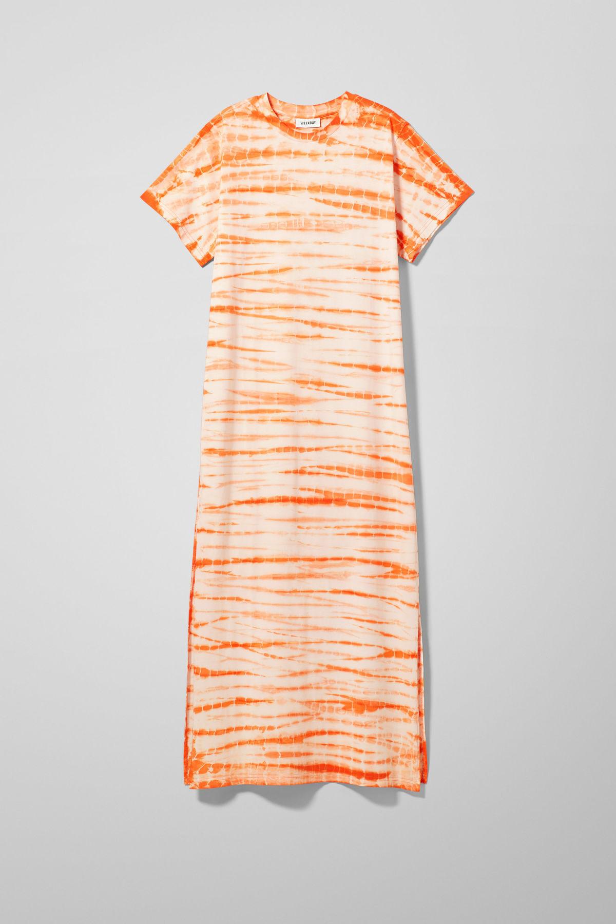 Image of Stroke Dress - Orange-XS