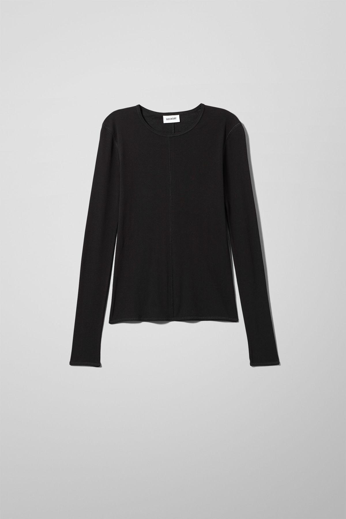 Image of Transparent Long Sleeve - Black-XS