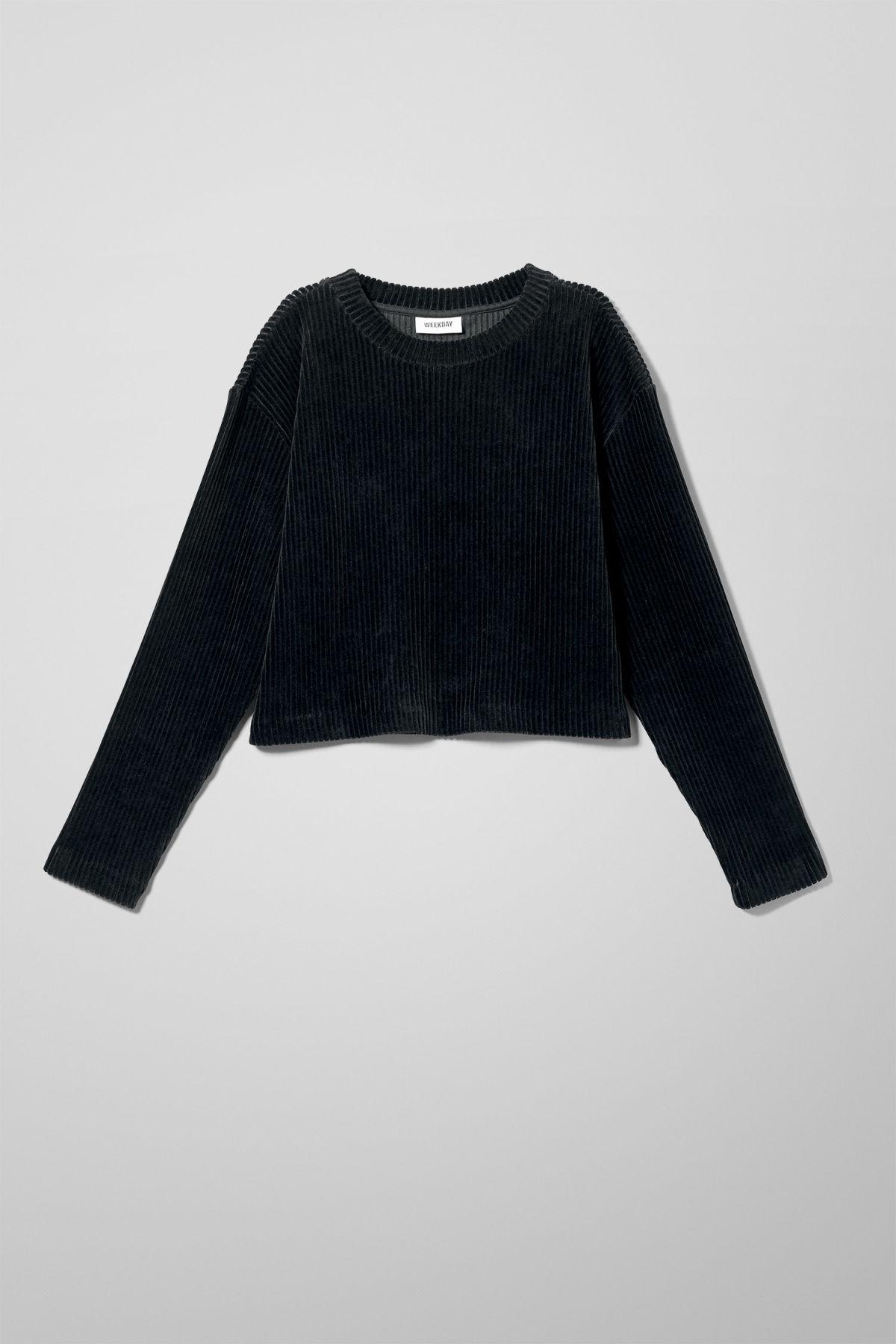 Image of Shea Long Sleeve Top - Black-XS