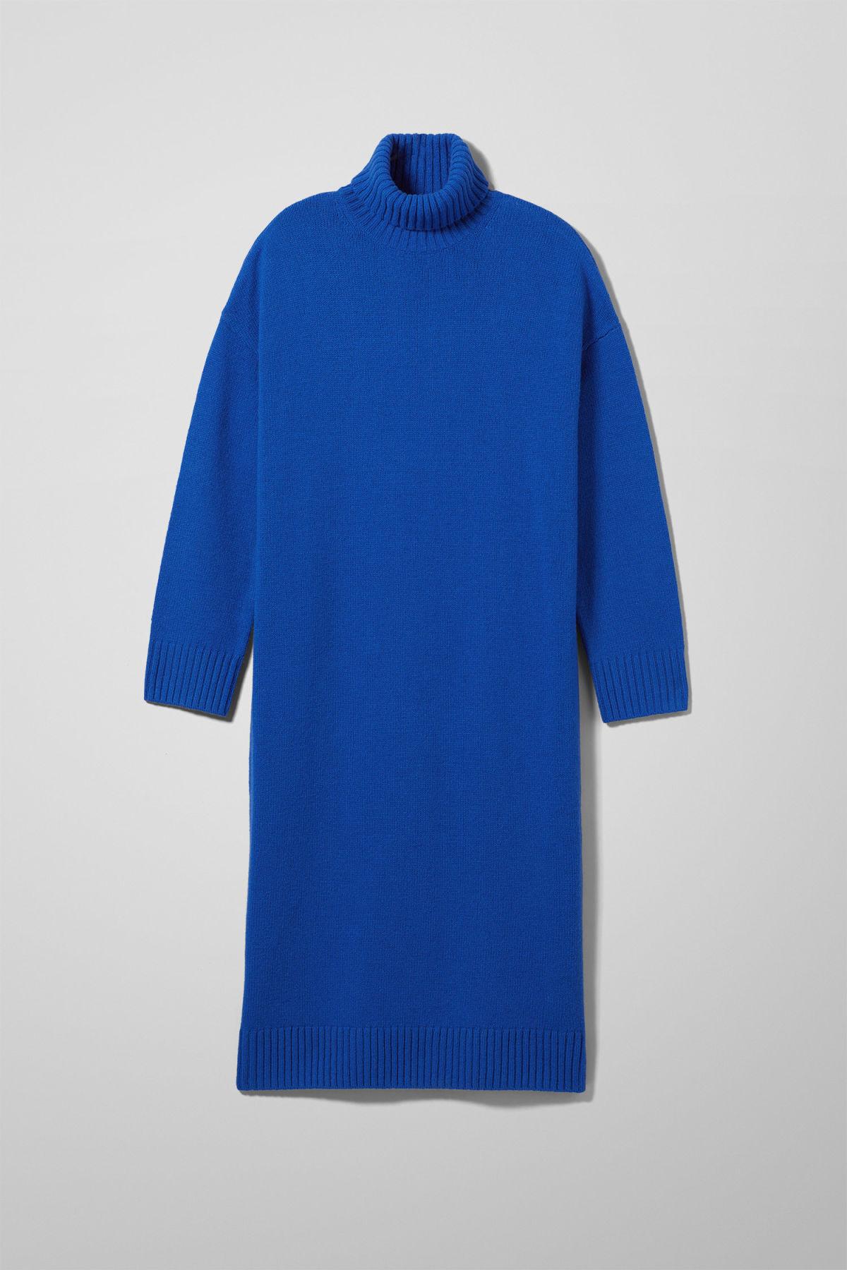 Image of Nia Knit Dress - Blue-XS