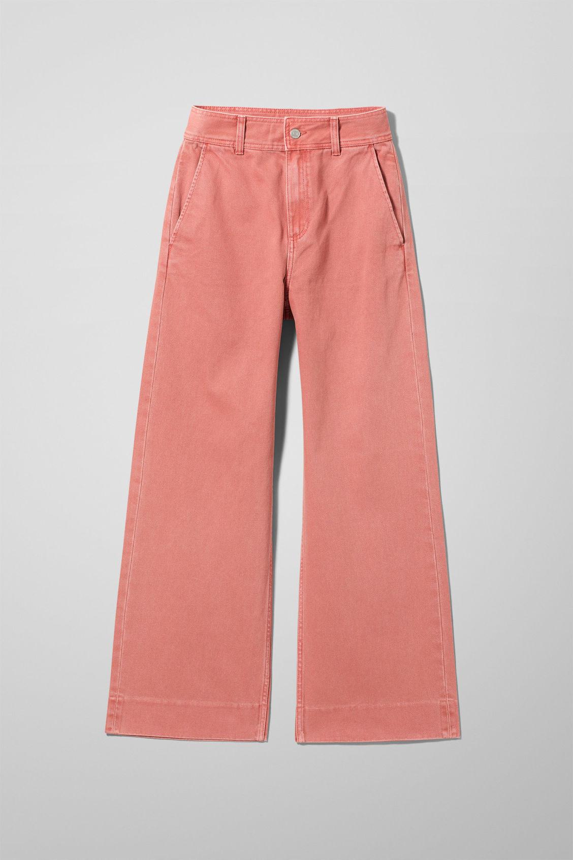 Cory Rose Denim Trousers - Orange-34