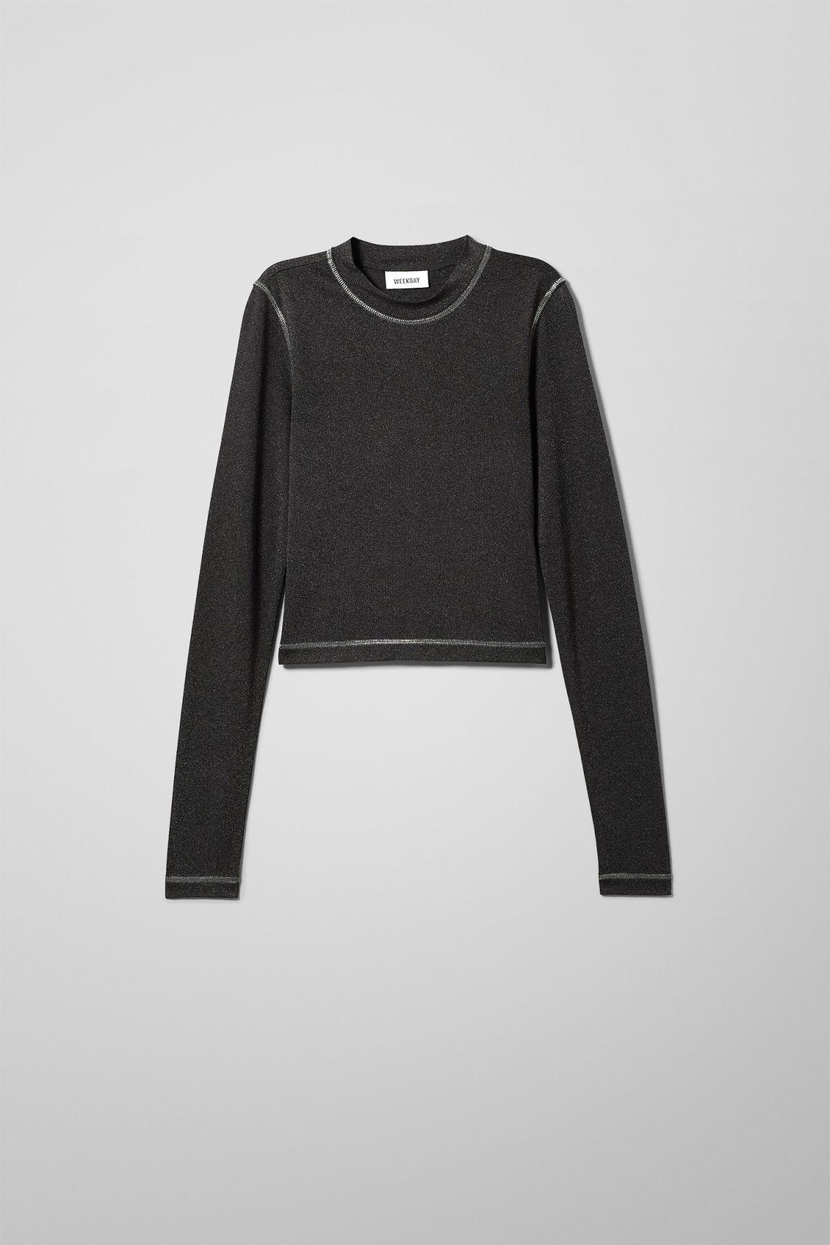 Image of Oak Long Sleeve Top - Black-XS