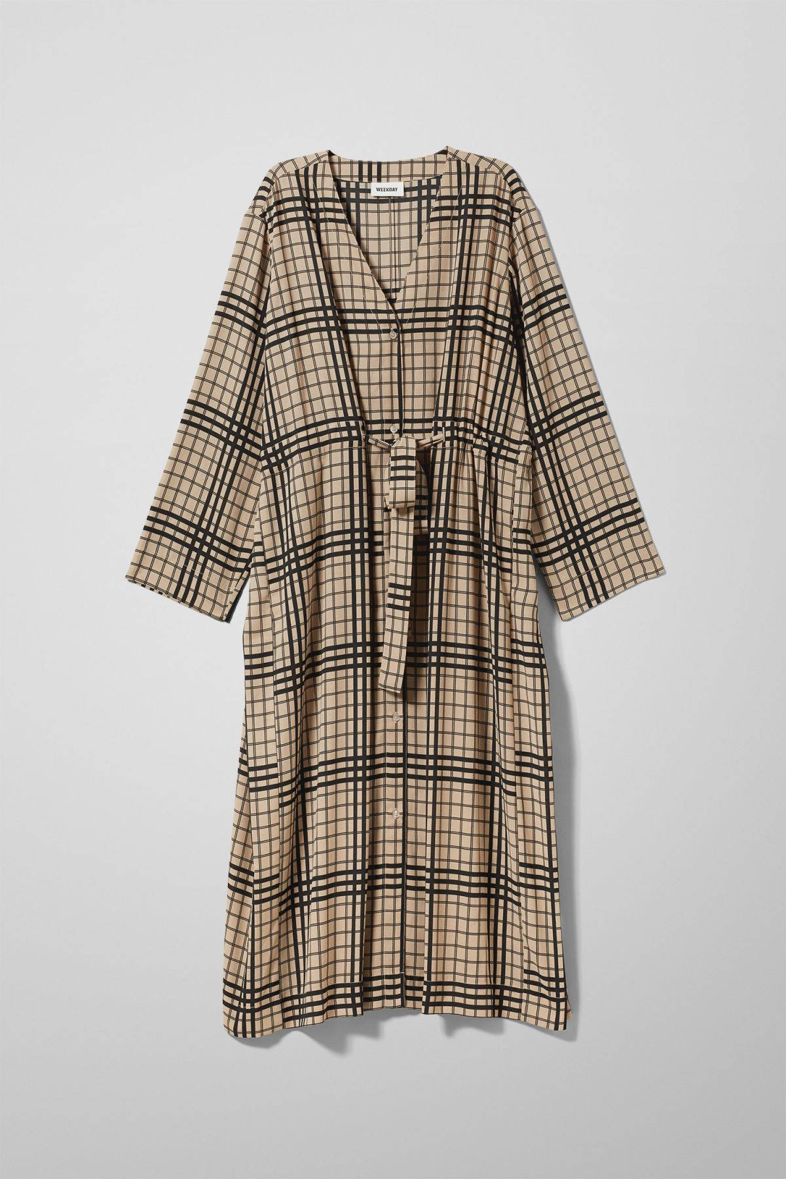 Image of Chalk Long Sleeve Dress - Beige-M