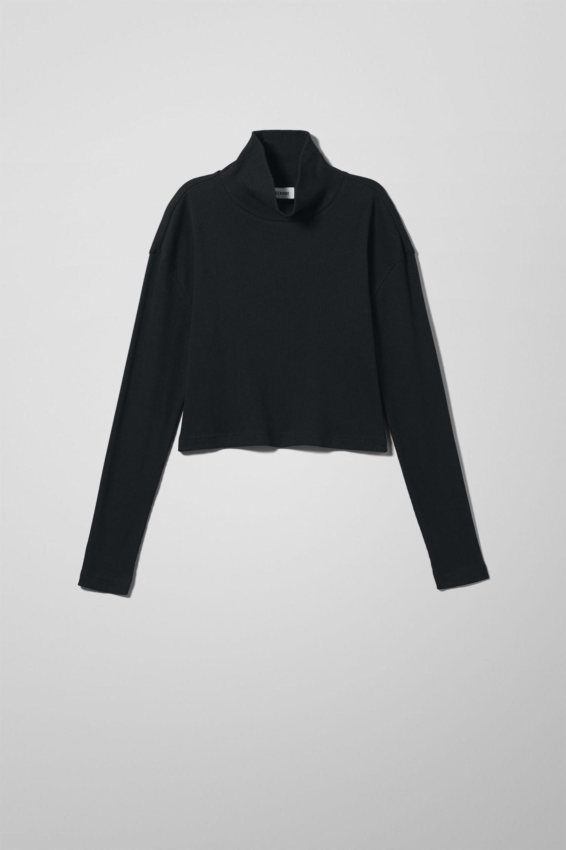 Image of Phoebe Long Sleeve T-shirt - Black-XS