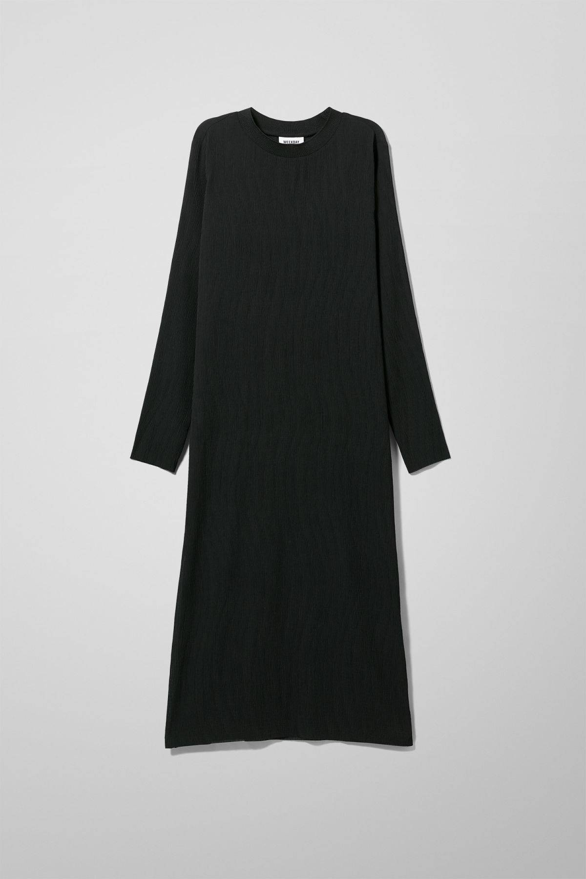 Image of Waverly Pleated Dress - Black-34
