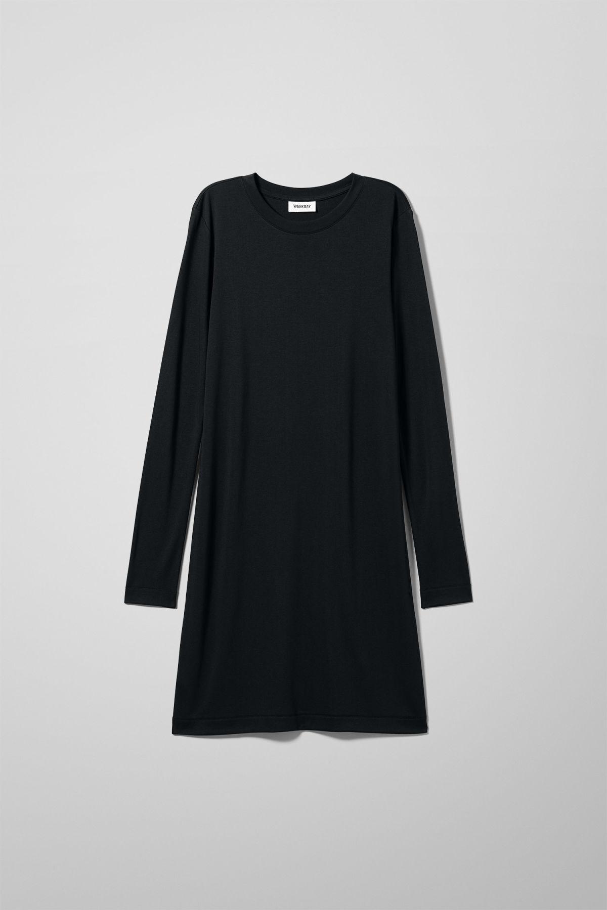 Image of Beyond Long Sleeve Dress - Black-XS