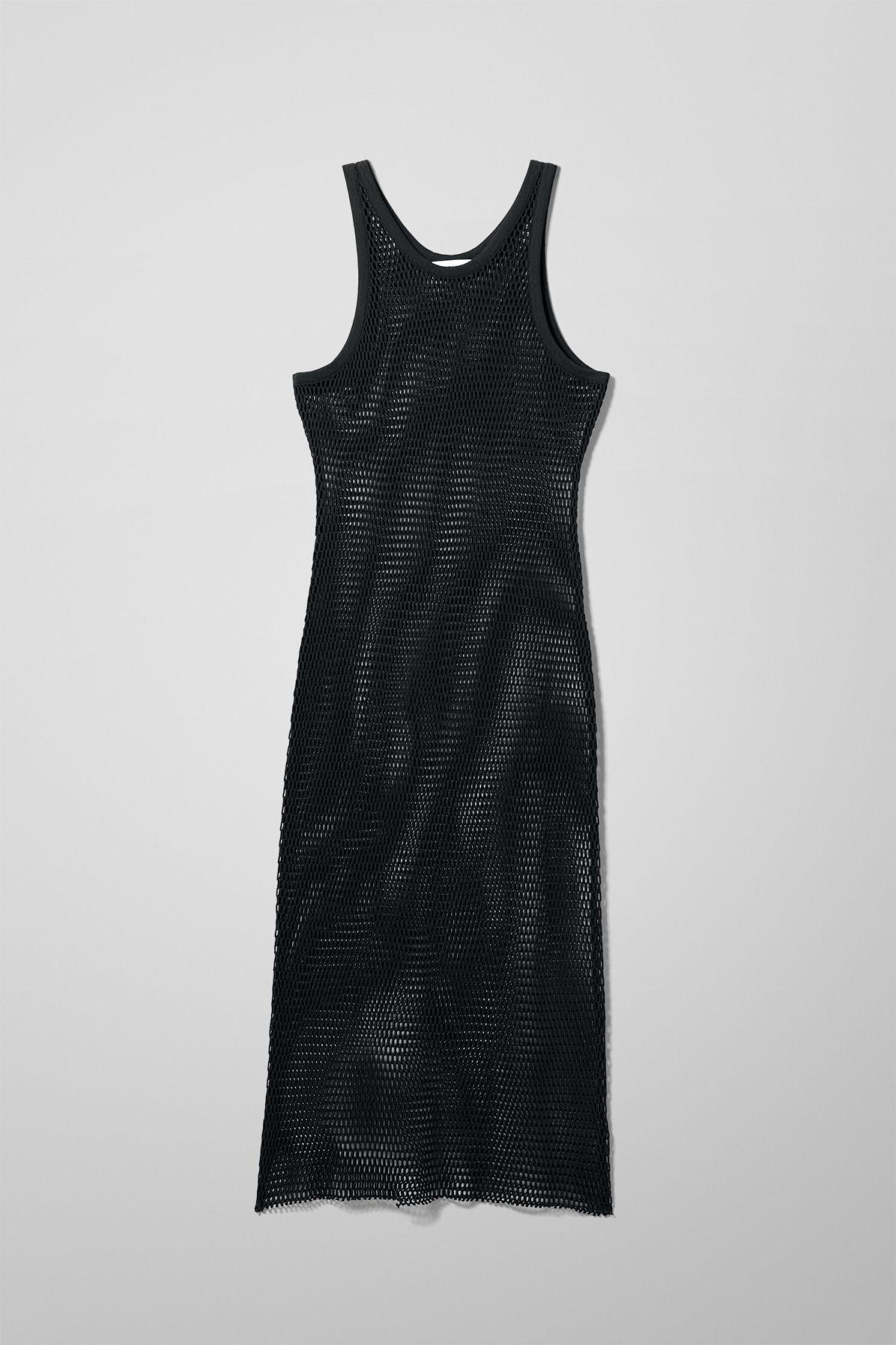 Image of Play Net Dress - Black-XS