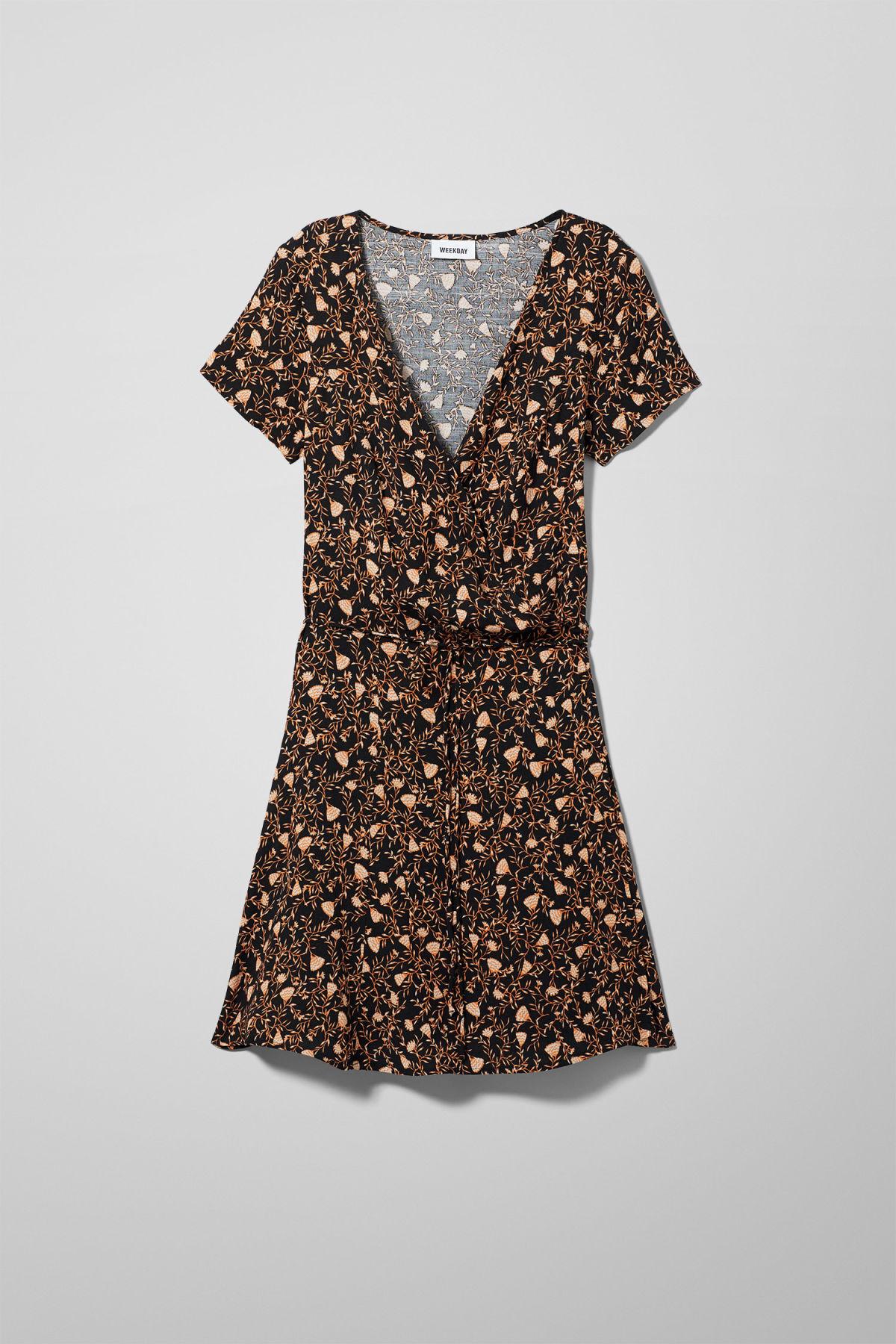 Image of Imogen Wrap Dress - Black-34