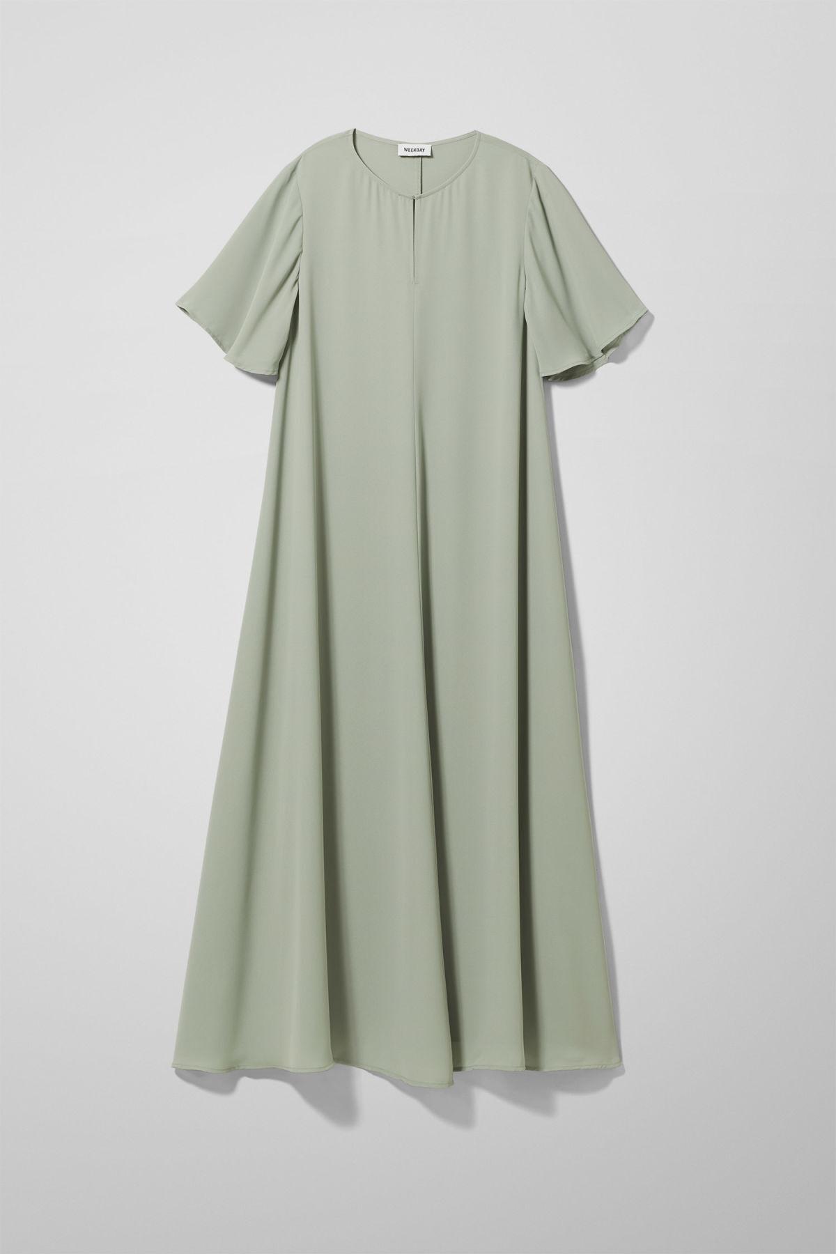 Image of Gloria Dress - Green-XS