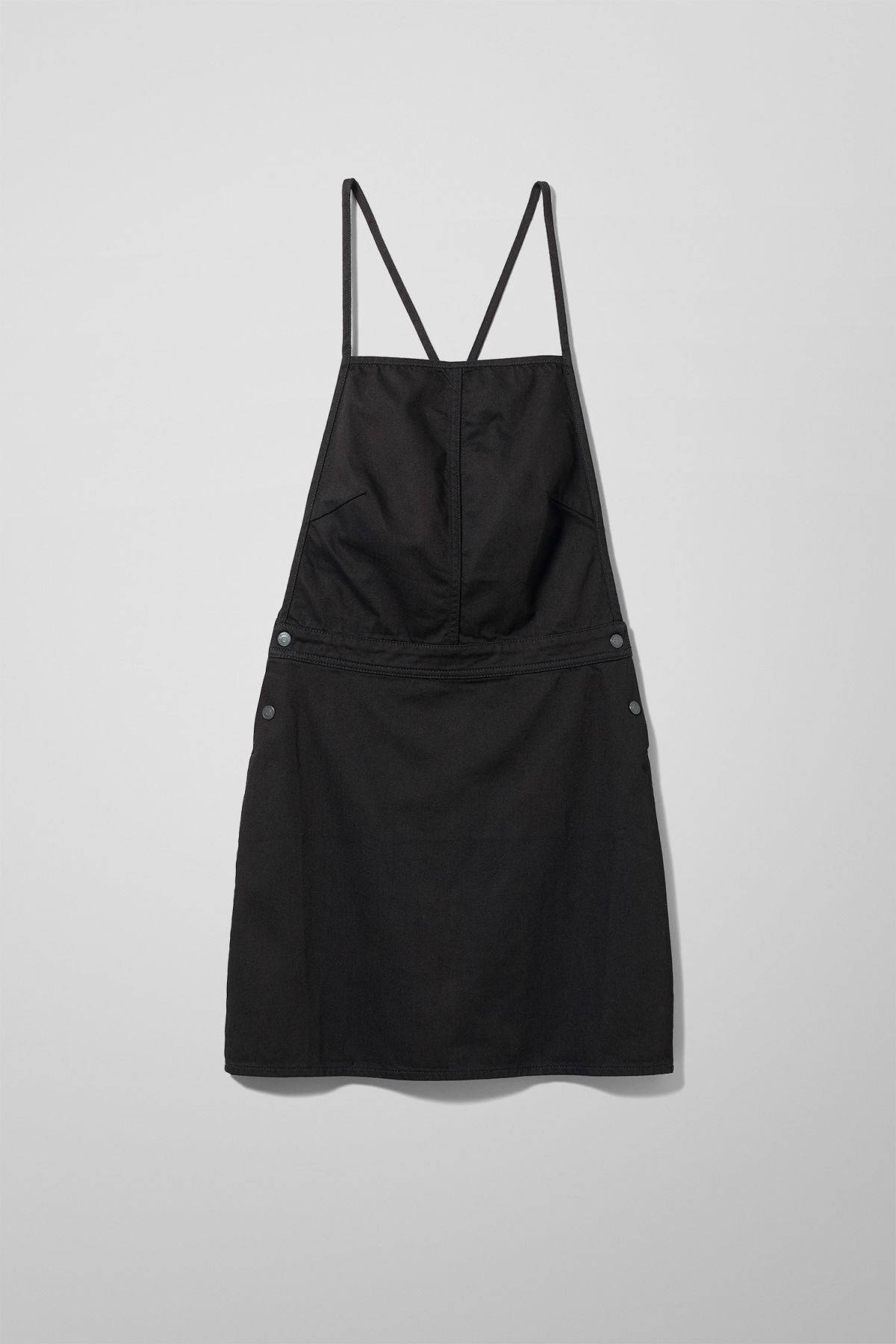Image of Irene Denim Dress Washed Black - Black-34
