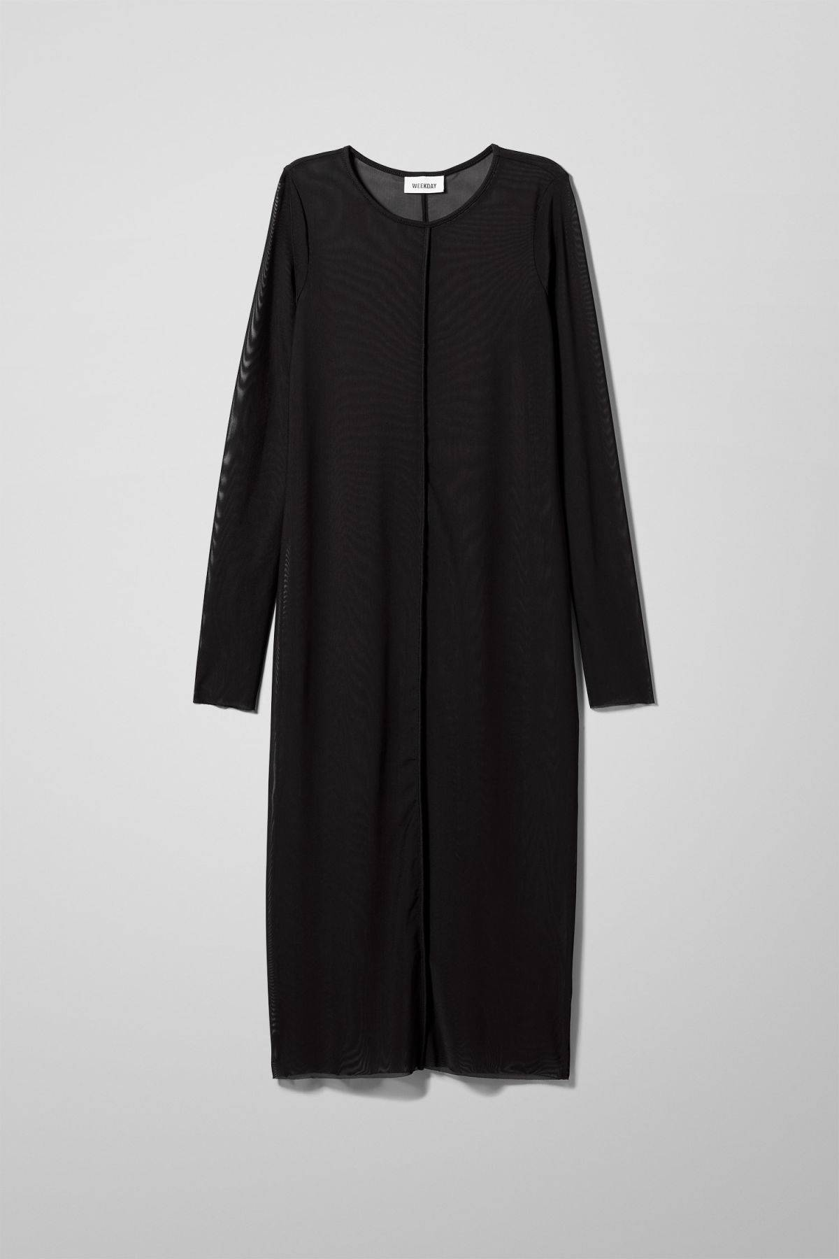 Image of Emelie Mesh Dress - Black-XS