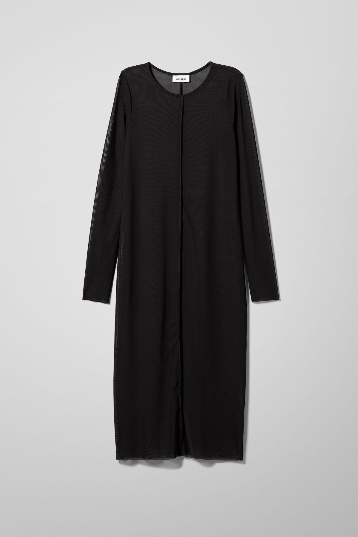 Image of Emelie Mesh Dress - Black-M