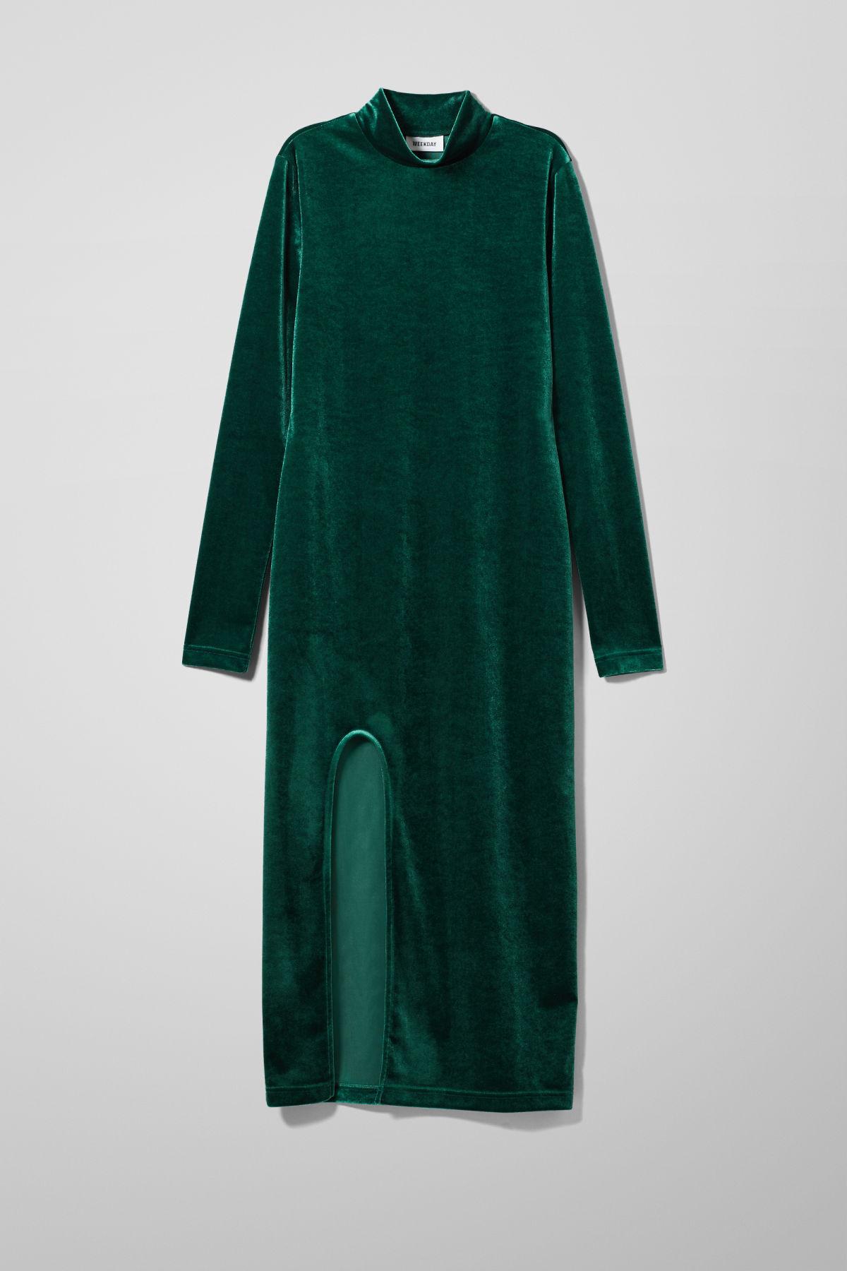 Image of Bonita Velvet Dress - Green-XS