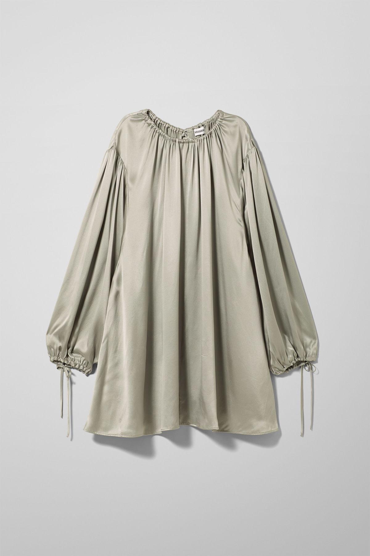 Image of Magma Silk Dress - Green-XS/S