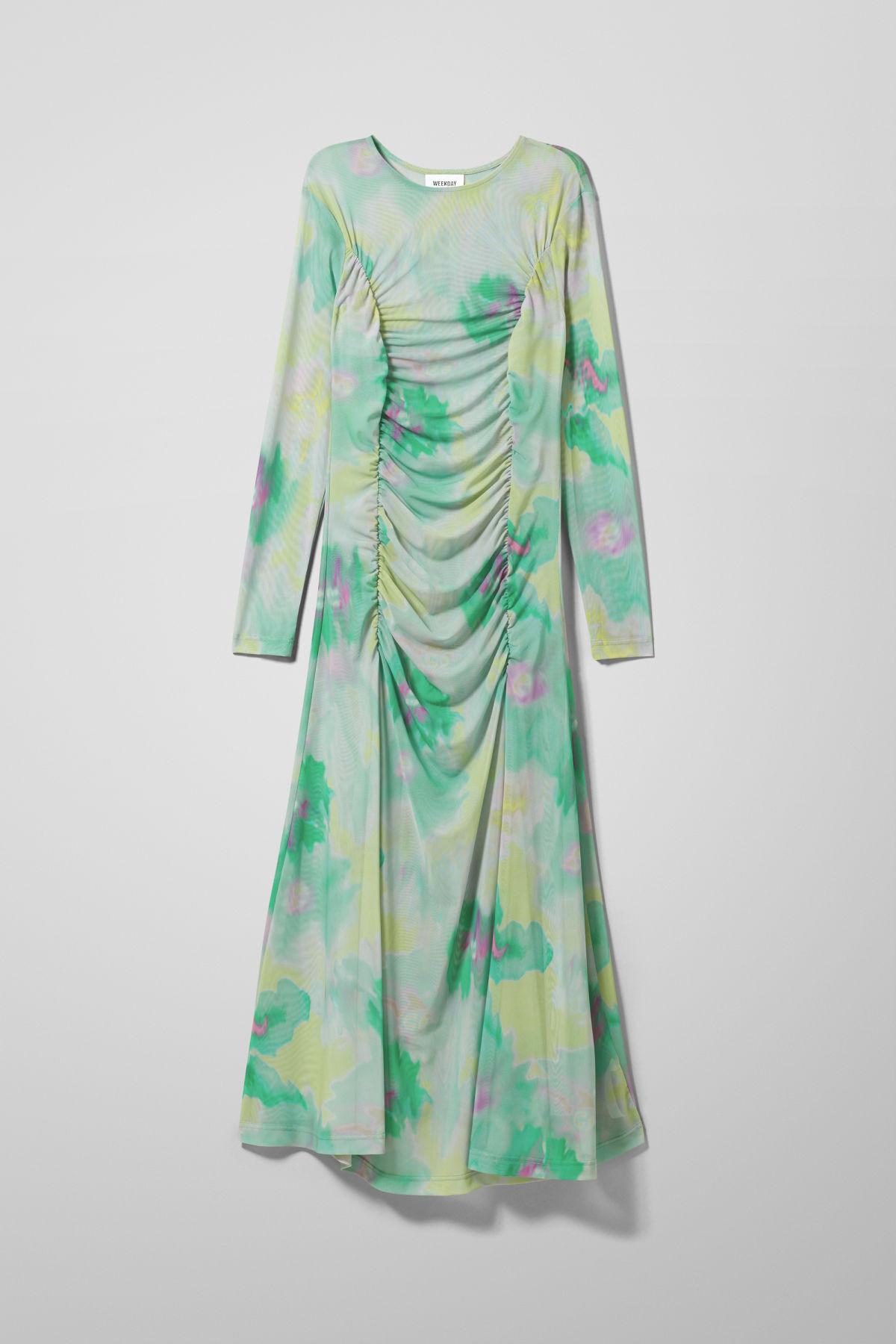 Image of Kaylee Mesh Dress - Green-XS