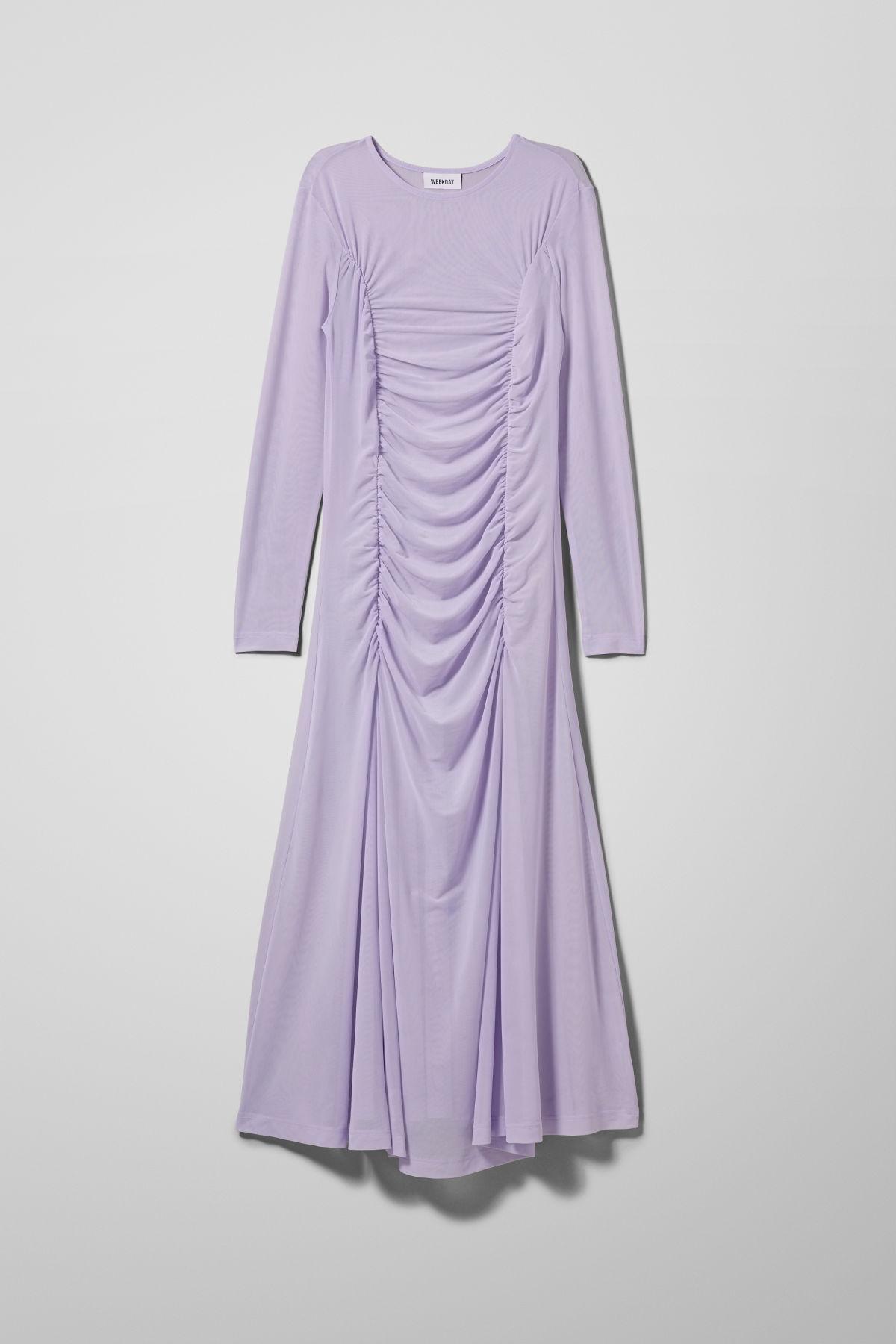 Image of Kaylee Mesh Dress - Purple-M