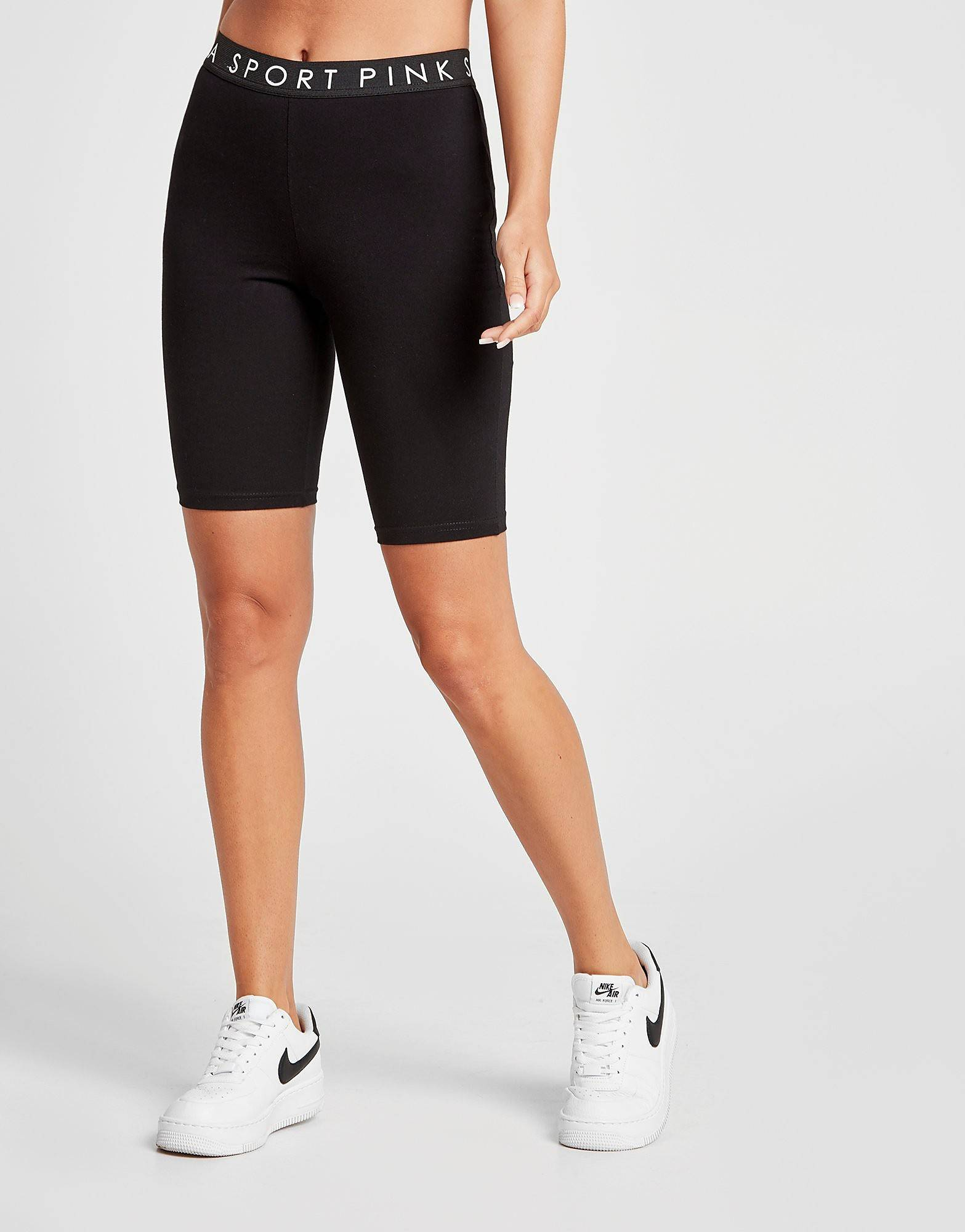Image of Pink Soda Sport Tape Cycling Shorts - Only at JD - Womens, Musta