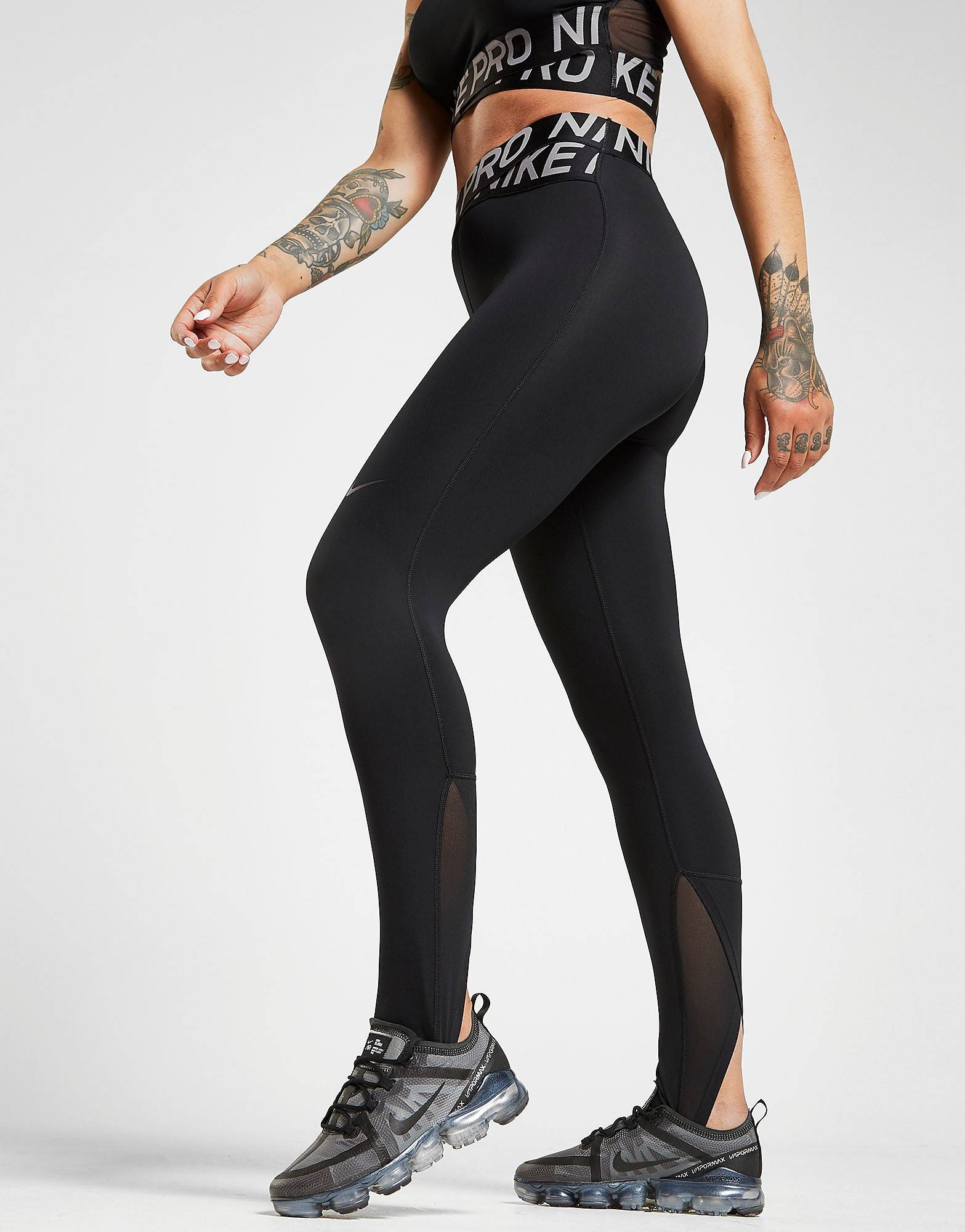 Image of Nike Pro Training Crossover Tights - Womens, Musta