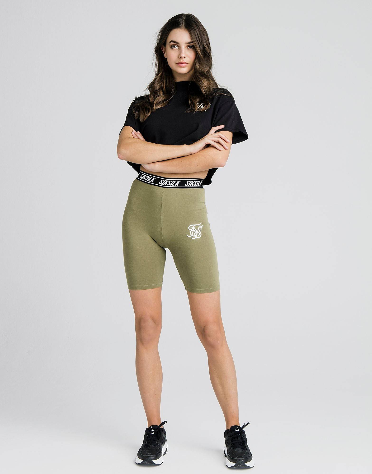 Image of SikSilk Tape Cycle Shorts - Only at JD - Womens, Vihreä