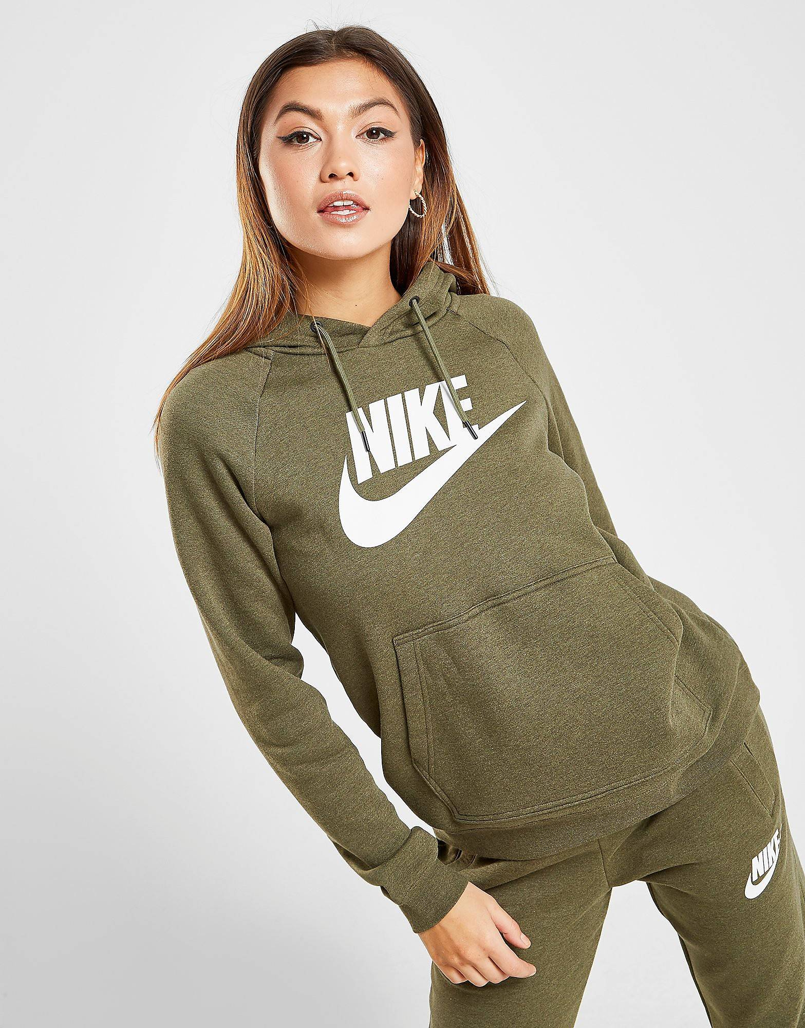 Image of Nike Rally Overhead Hoodie - Only at JD - Womens, Vihreä
