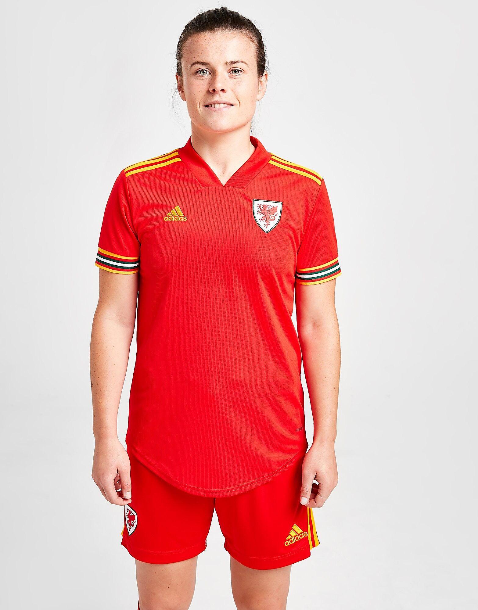 Image of Adidas Wales 2020 Kotipaita Naiset - Womens, Punainen