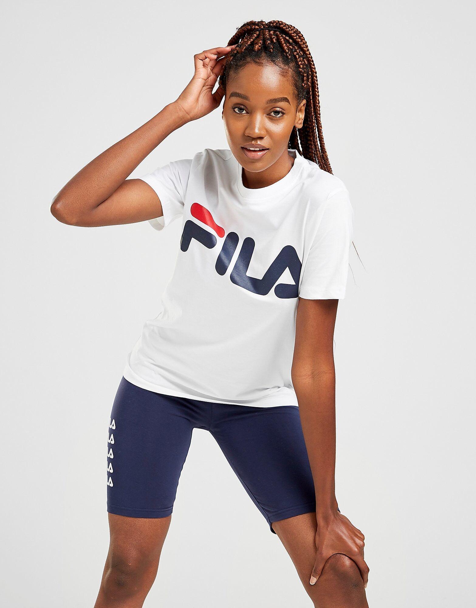 Image of Fila Core Logo Boyfriend T-Shirt - Only at JD - Womens, Valkoinen