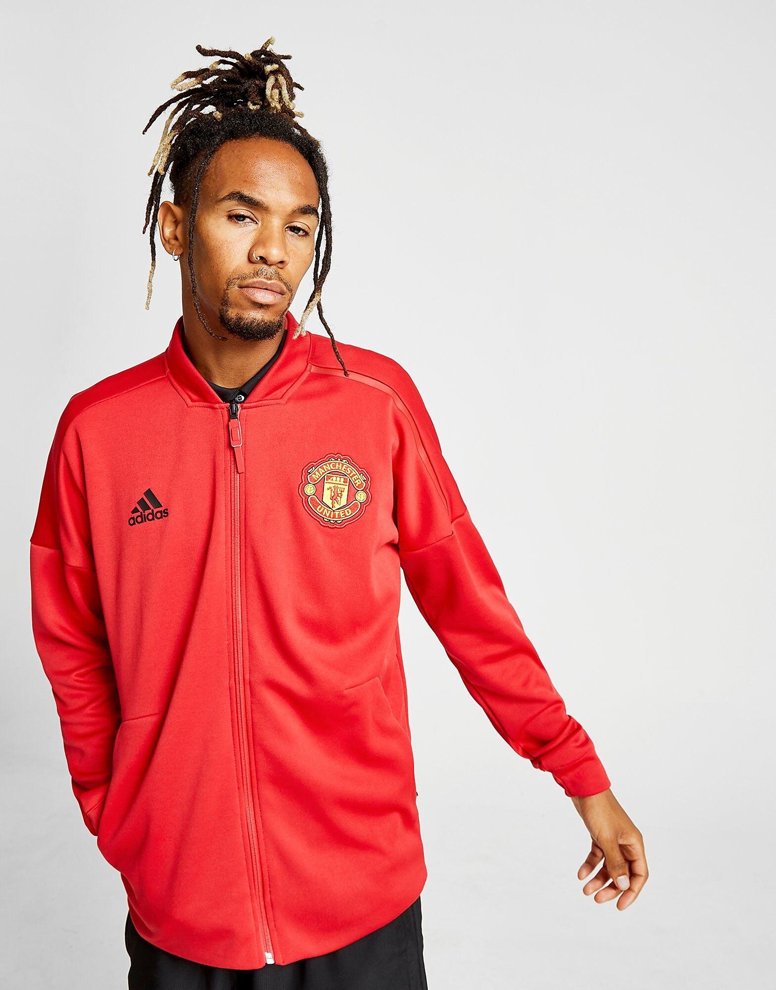 Image of Adidas Manchester United FC 2018/19 Zone Jacket - Mens, Punainen