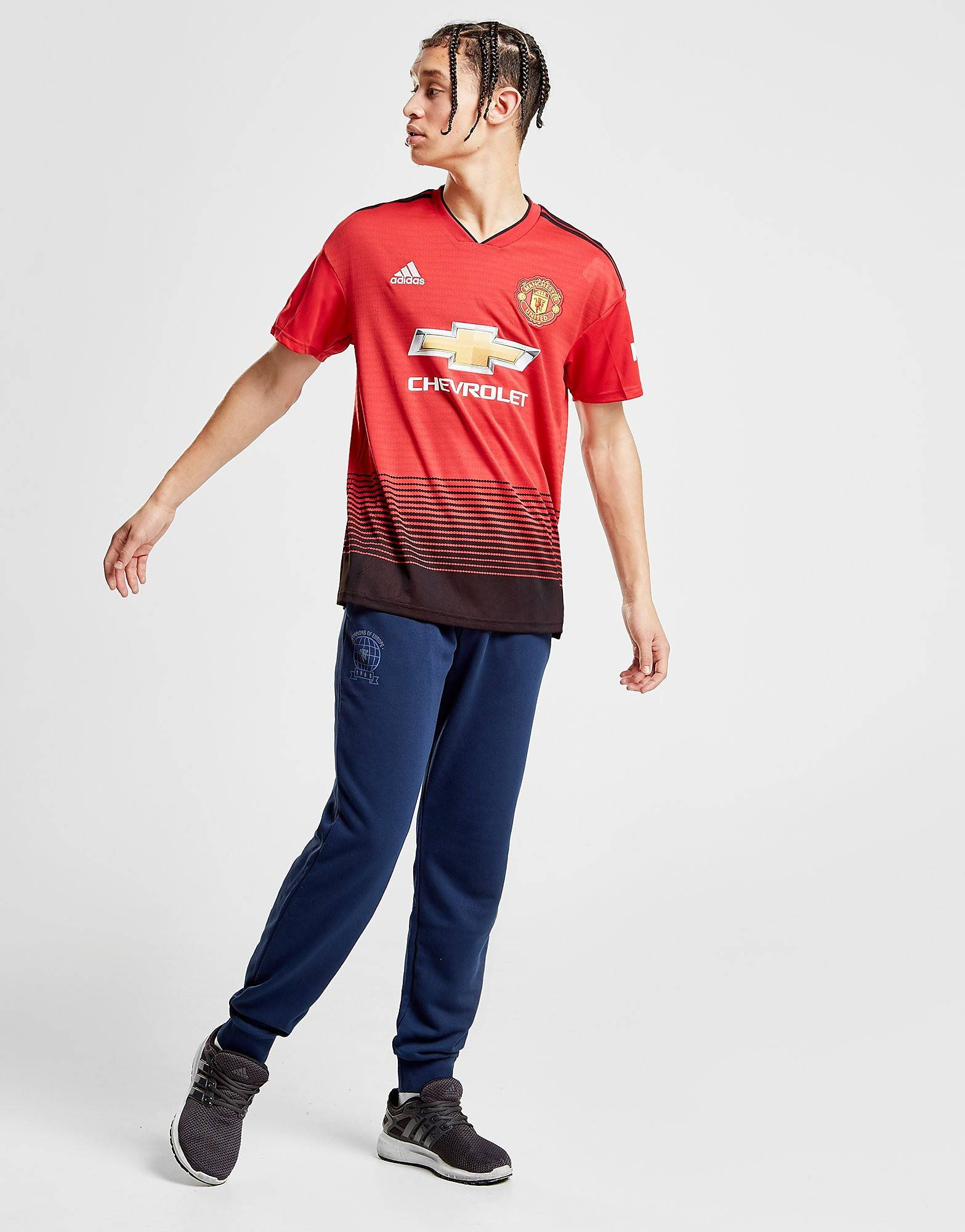 Image of Adidas Manchester United Track Pants - Mens, Laivastonsininen