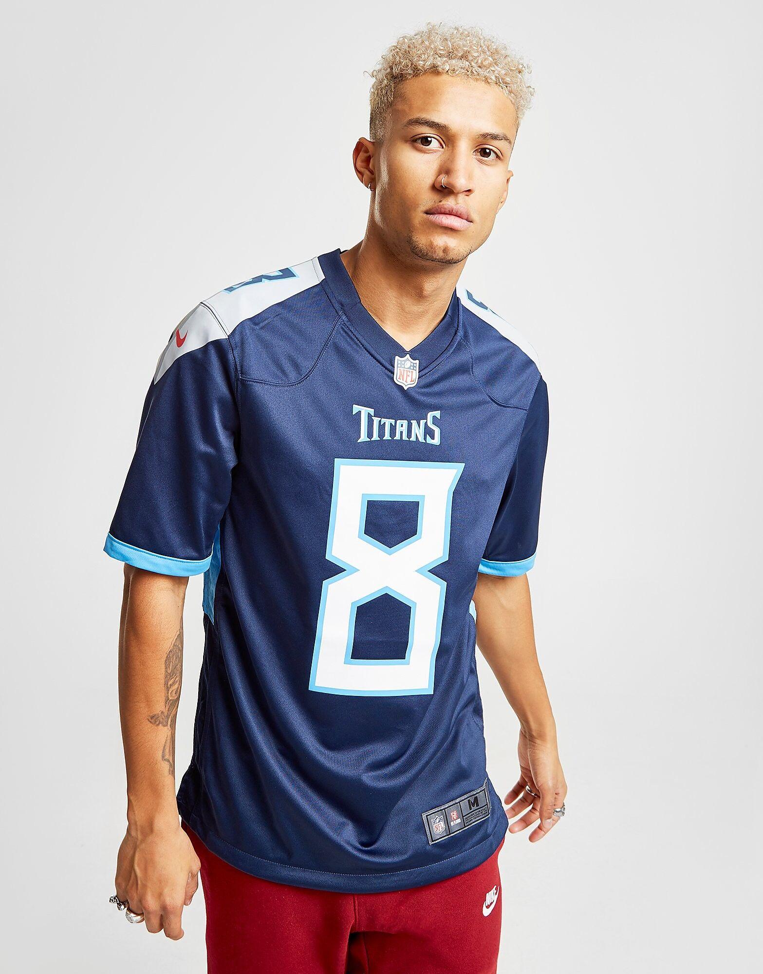 Image of Nike NFL Tennessee Titans Mariota Kotipaita Miehet - Mens, Sininen