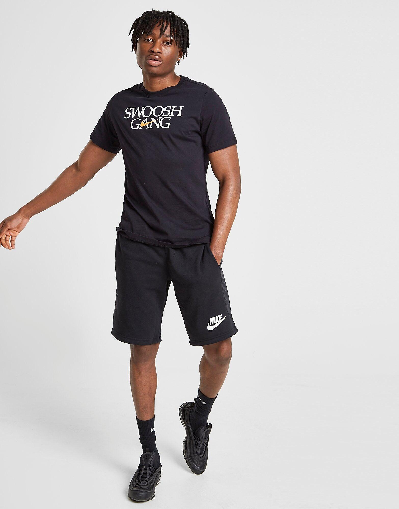 Image of Nike Hybrid Fleece Shortsit Miehet - Only at JD - Mens, Musta