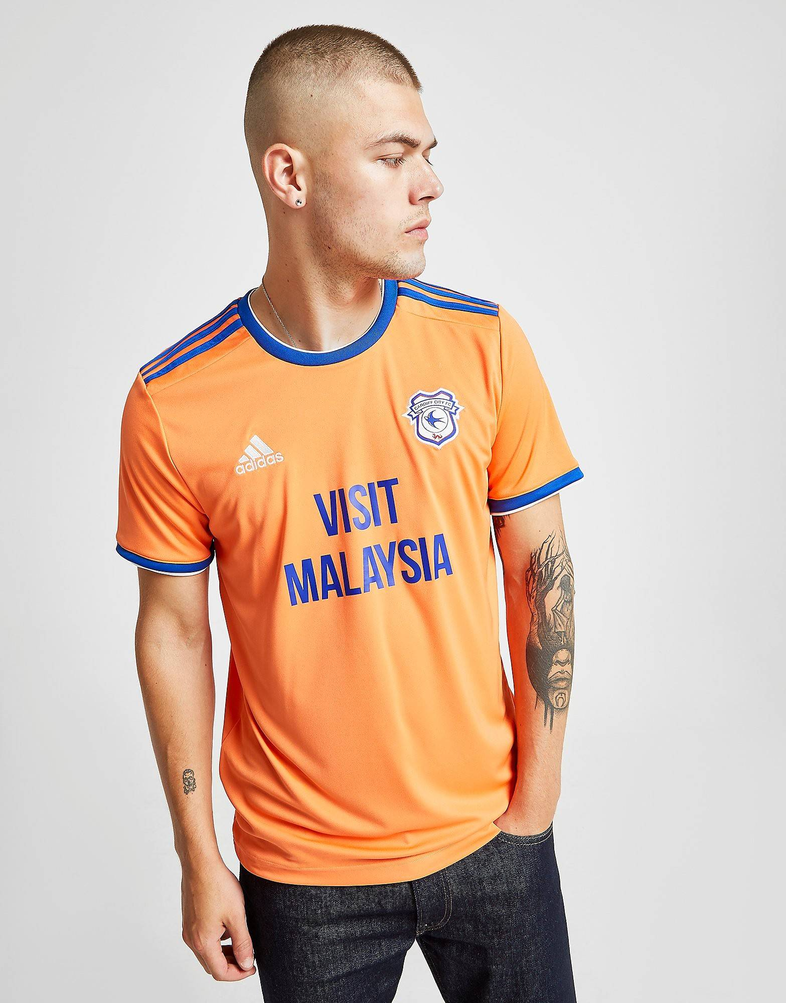 Image of Adidas Cardiff City FC 2019/20 Vieraspaita Miehet - Mens, Oranssi