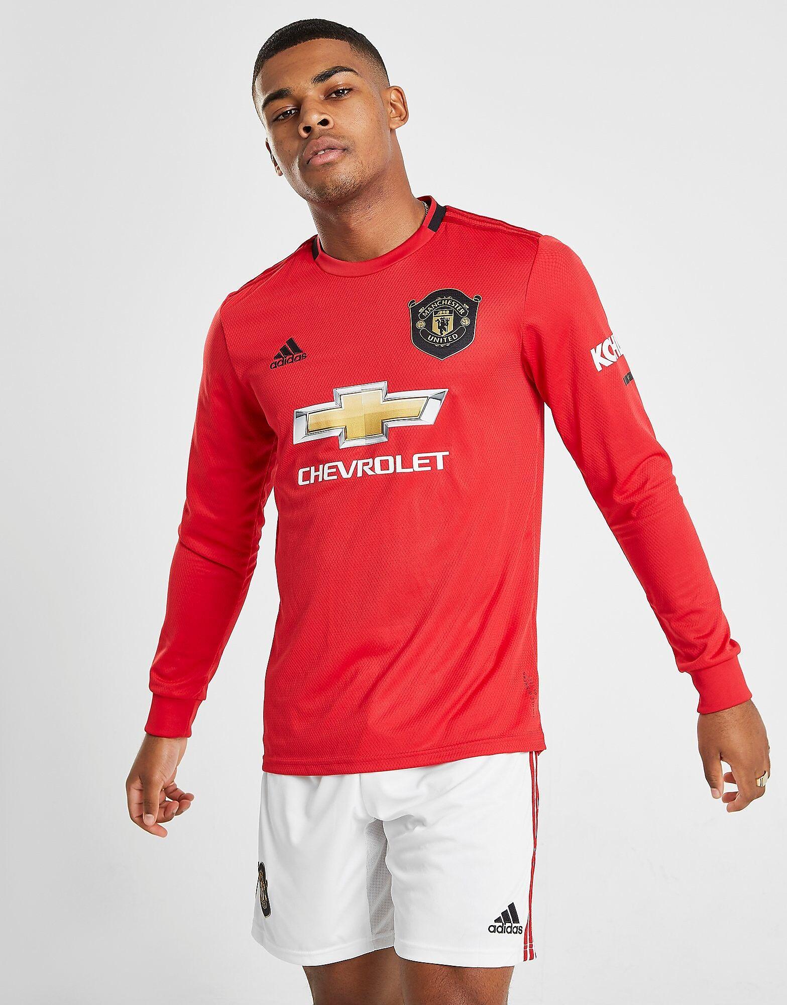 Image of Adidas Manchester United 19/20 Pitkähihainen Kotipaita - Mens, Punainen