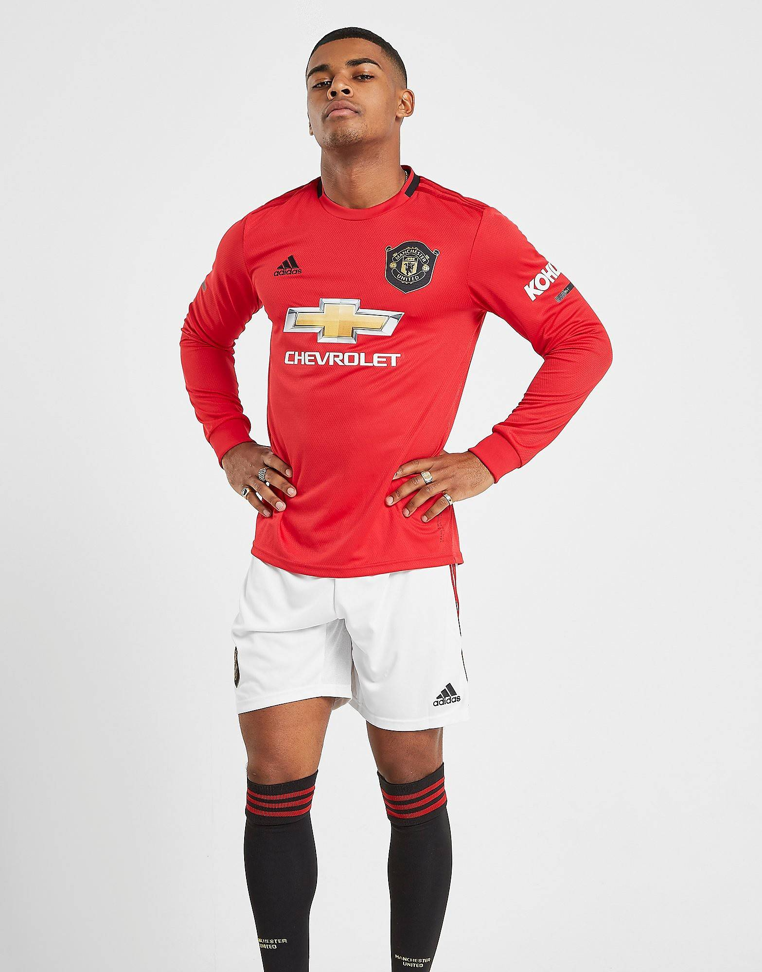 Image of Adidas Manchester United FC 19/20 Kotishortsit - Mens, Valkoinen