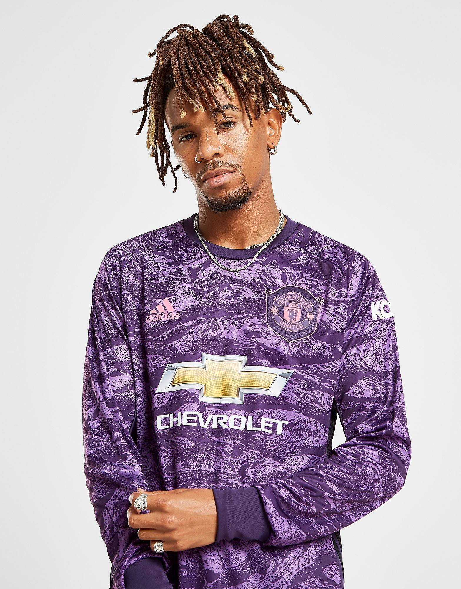Image of Adidas Manchester Utd 19/20 Maalivahti Kotipaita Miehet - Mens, Violetti